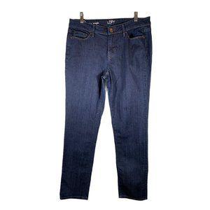 Loft Dark Wash Modern Straight Jeans